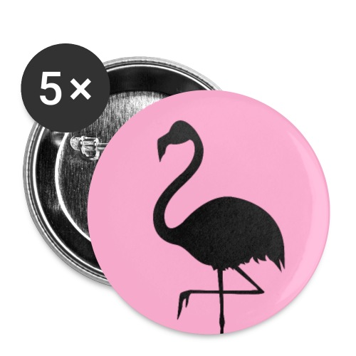 Pink Flamingo Logo Black - Buttons small 1'' (5-pack)