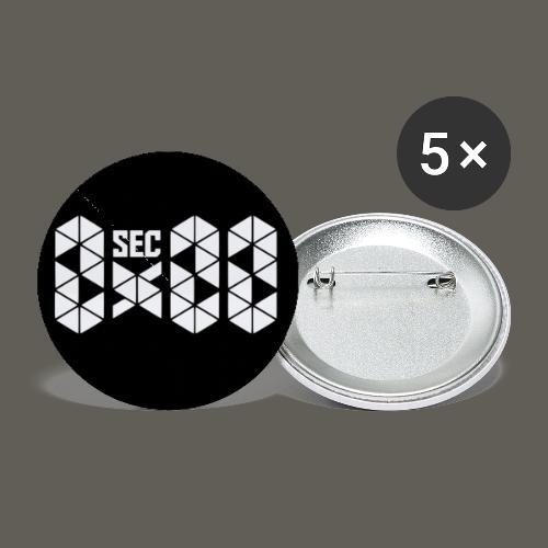 Circle White Logo - Buttons small 1'' (5-pack)