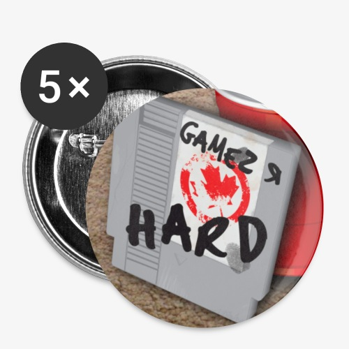 GamezRHard Button - Buttons small 1'' (5-pack)