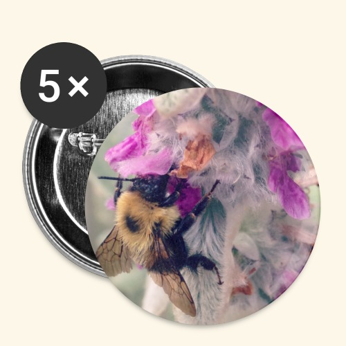Bumble Bee - Buttons small 1'' (5-pack)