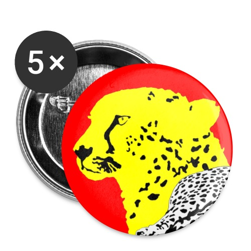 CHEETAH - Buttons small 1'' (5-pack)