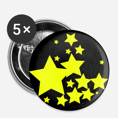 btnstars - Buttons small 1'' (5-pack)