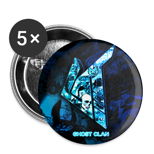 GhosT Clan Cool Blue - Small Buttons
