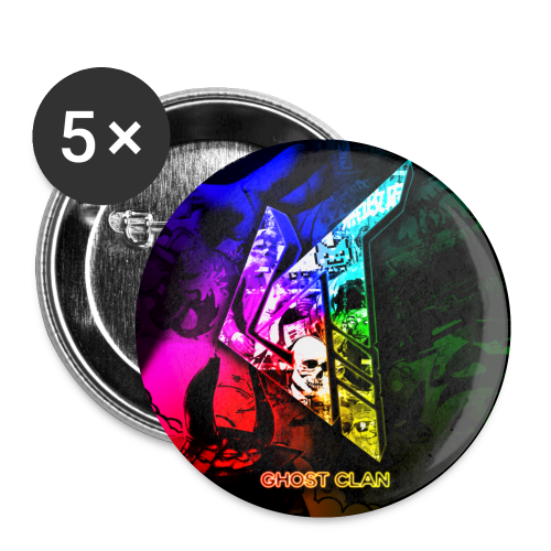 GhosT Clan Rainbow - Buttons small 1'' (5-pack)
