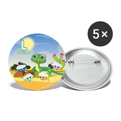 Babyccinos Alphabet Letter L - Buttons small 1'' (5-pack)