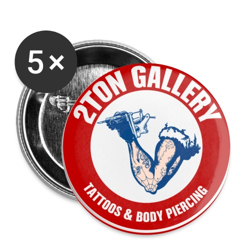 2TON Gallery Logo - Buttons small 1'' (5-pack)