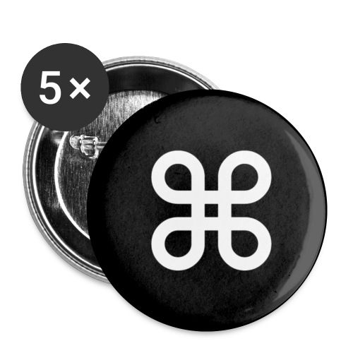 button command - Buttons small 1'' (5-pack)