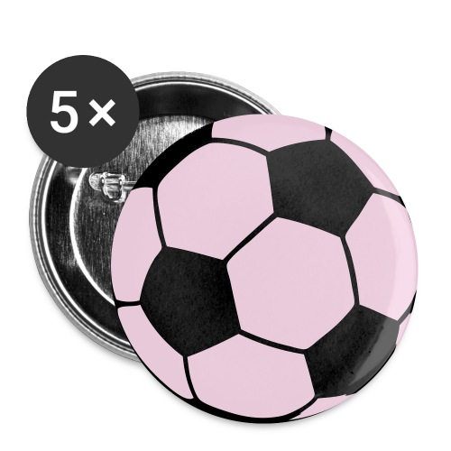 Custom soccerball 2 color - Buttons small 1'' (5-pack)