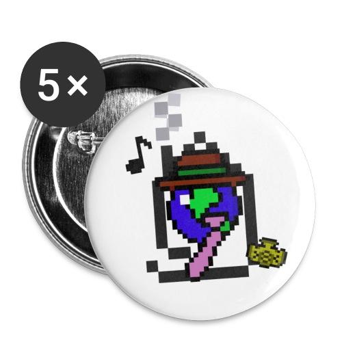 BeaverhouseLogo8BitShirt2 png - Buttons small 1'' (5-pack)