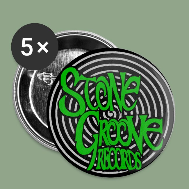 Stone Groove Records Spiral Green Logo button