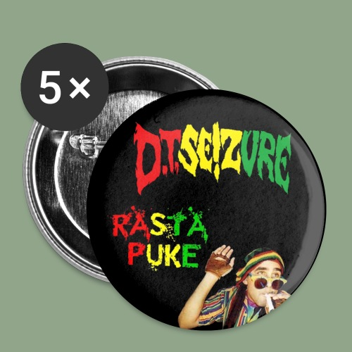D T Seizure Rasta Puke Button - Buttons small 1'' (5-pack)