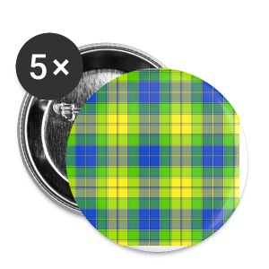 Yellow plaid - Small Buttons