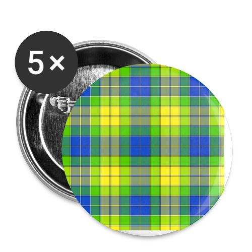 Yellow plaid - Buttons small 1'' (5-pack)