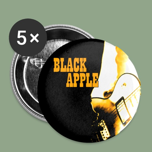 Black Apple Button - Buttons small 1'' (5-pack)