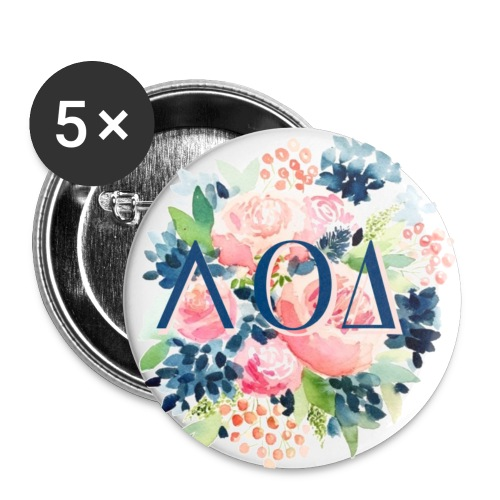 Watercolor Pin - Buttons small 1'' (5-pack)