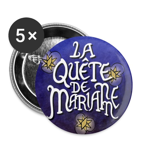 La quête de Marianne - Lot de 5 petits badges (1 po)