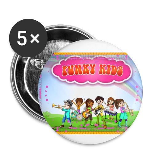 Funky Kids Garden - Buttons small 1'' (5-pack)