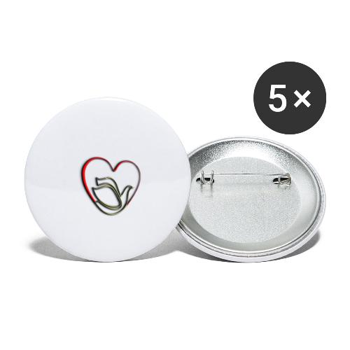 Love and Pureness of a Dove - Buttons small 1'' (5-pack)