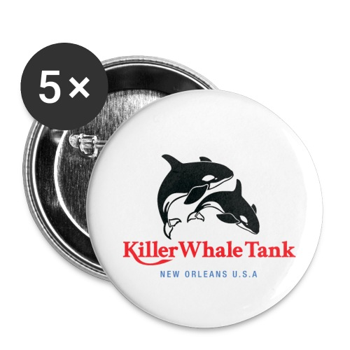 Killer Whale Tank Front - Buttons small 1'' (5-pack)