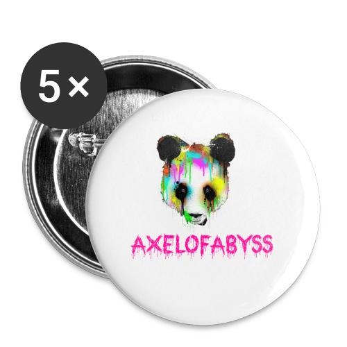 Axelofabyss panda panda paint - Buttons small 1'' (5-pack)