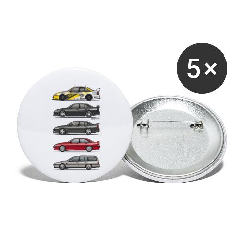 Stack of Opel Omegas / Vauxhall Carlton A - Buttons small 1'' (5-pack)