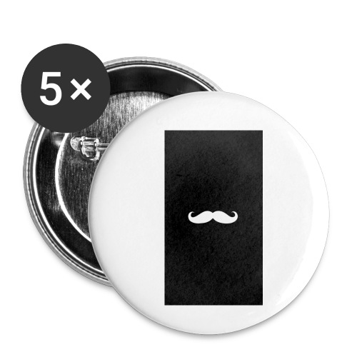 Mustache - Buttons small 1'' (5-pack)