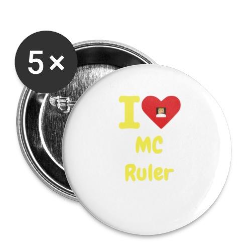 I Heart MC Ruler - Small Buttons