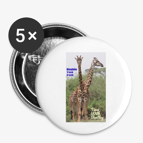 Two Headed Giraffe - Buttons small 1'' (5-pack)