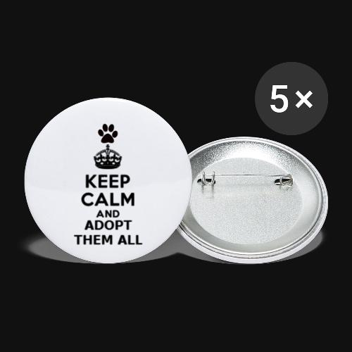 KEEP CALM - Buttons small 1'' (5-pack)