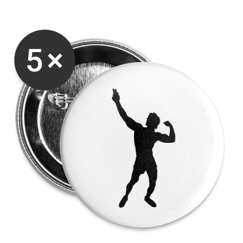 Zyzz Silhouette vector - Buttons small 1'' (5-pack)