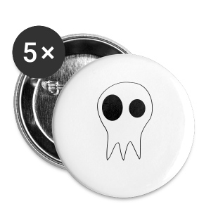 The Grims Skull Logo - Small Buttons