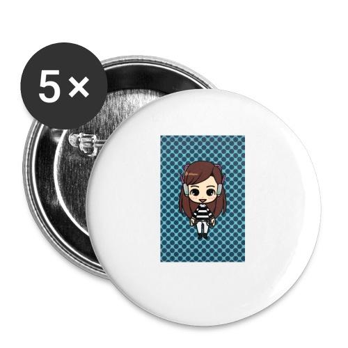 Kids t shirt - Buttons small 1'' (5-pack)