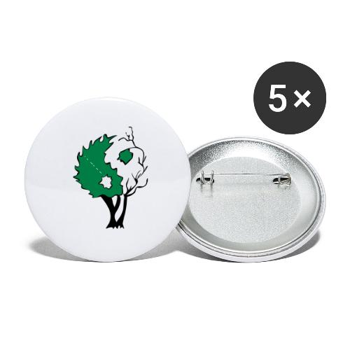 Yin Yang Tree - Buttons small 1'' (5-pack)