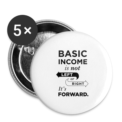 Basic Income Arrows V.2 - Buttons small 1'' (5-pack)