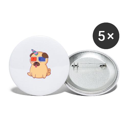 Dog with 3D glasses doing Vision Therapy! - Buttons small 1'' (5-pack)
