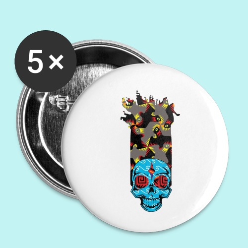 90s KID SKULLY - Buttons small 1'' (5-pack)