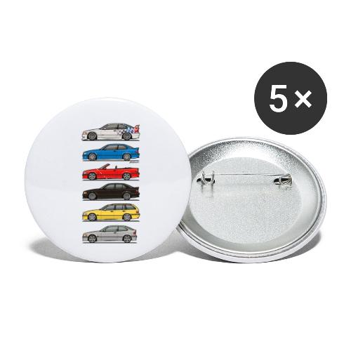 Stack of E36 Variants - Buttons small 1'' (5-pack)