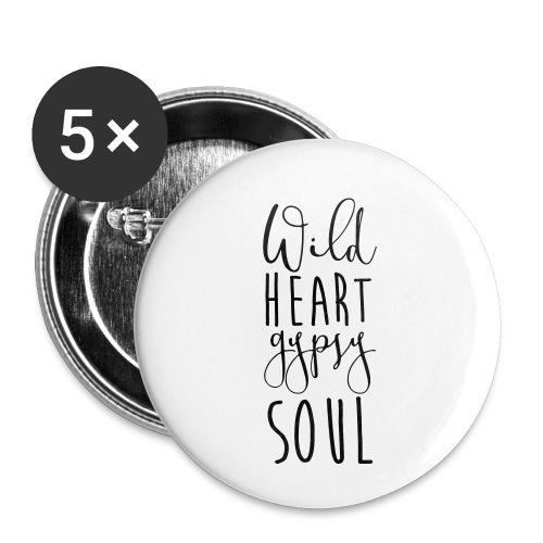Cosmos 'Wild Heart Gypsy Sould' - Buttons small 1'' (5-pack)