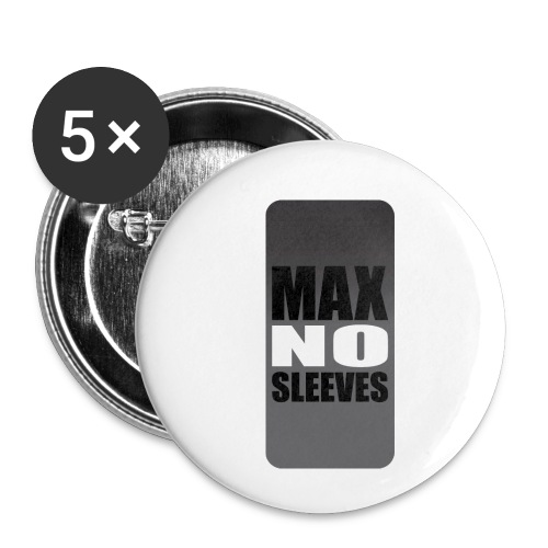 nosleevesgrayiphone5 - Buttons small 1'' (5-pack)