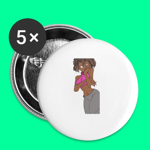 Wakandan Pink - Buttons small 1'' (5-pack)