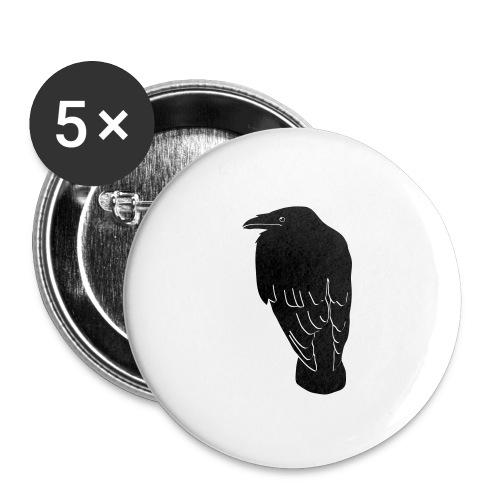 raven crow gothic bird wings dark fly - Buttons small 1'' (5-pack)