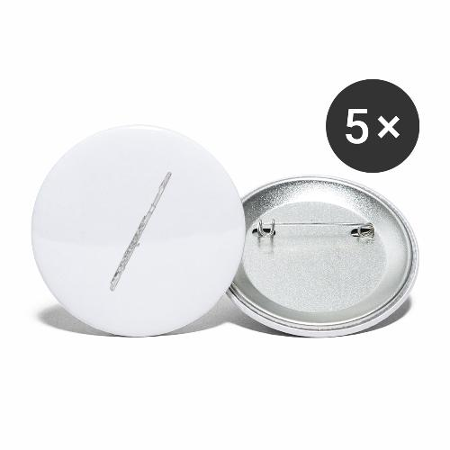 Flute · white, filled rotate - Buttons small 1'' (5-pack)