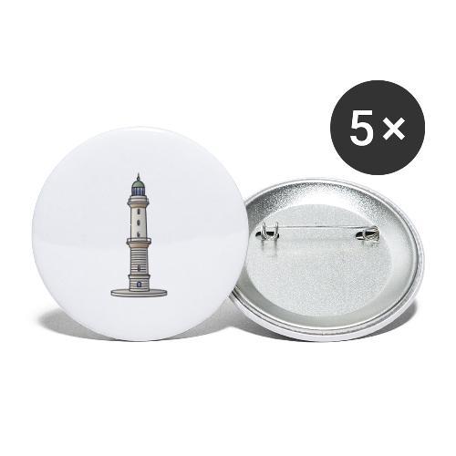Lighthouse Warnemünde Rostock - Buttons small 1'' (5-pack)
