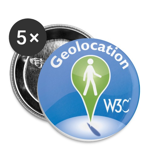 badge geolocation - Buttons small 1'' (5-pack)