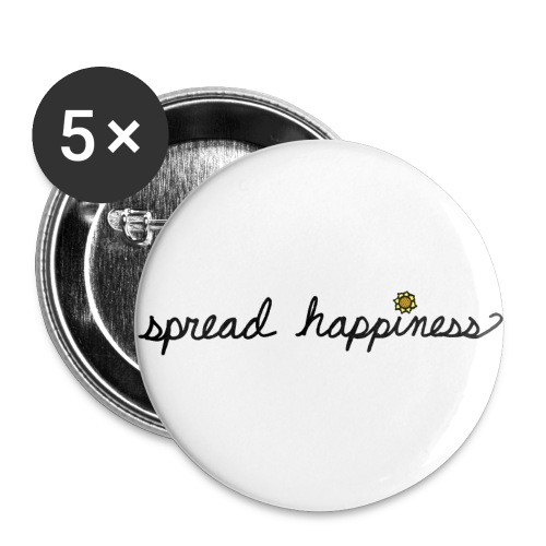 Spread Happiness Women's T-shirt - Buttons small 1'' (5-pack)