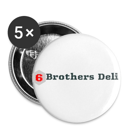 6 Brothers Deli - Buttons small 1'' (5-pack)