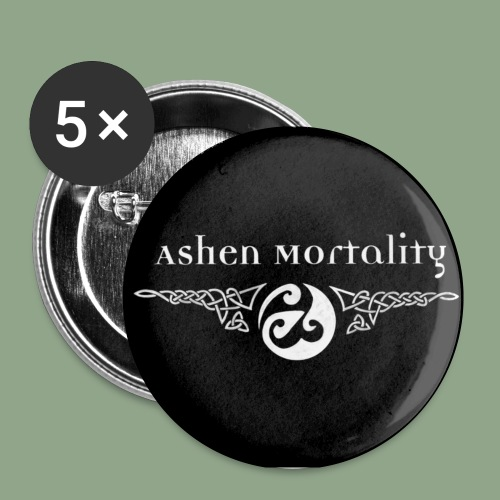 Ashen Mortality Logo Button - Buttons small 1'' (5-pack)