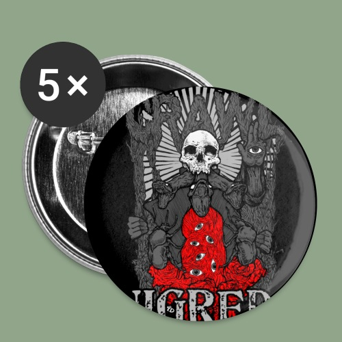 Crawl Nigredo Button with title - Buttons small 1'' (5-pack)