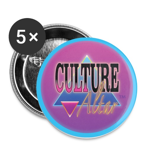 Culture Altar Round Logo - Buttons small 1'' (5-pack)