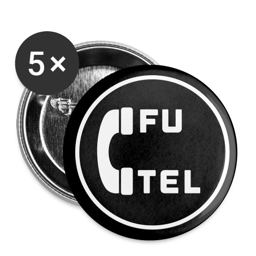Futel round logo - Buttons small 1'' (5-pack)